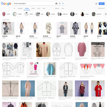 cocoon coat pattern - Google Search