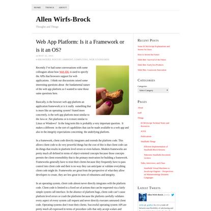 Web App Platform: Is it a Framework or is it an OS?