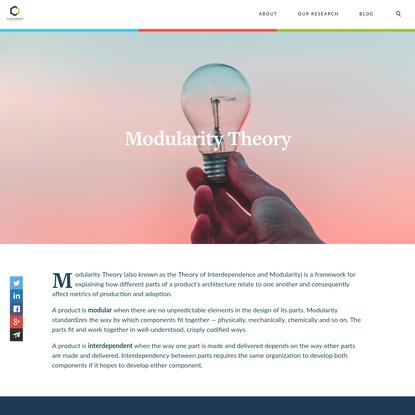 Modularity Theory - Christensen Institute