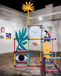 Out of Bounds, by @beciorpin and myself, is open at @boomgallery today until 4PM! Maybe a nice way to brighten up this grey ...