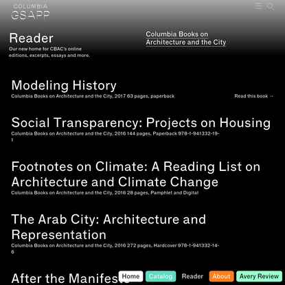 Readers - Columbia GSAPP