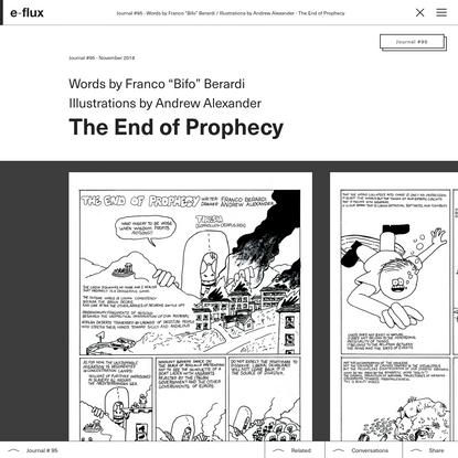 The End of Prophecy - Journal #95 WONDERFLUX - e-flux