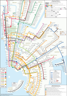 New York City Subway Lines Map
