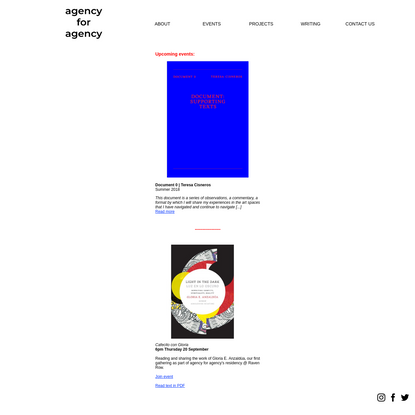 agency for agency