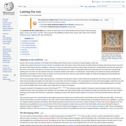 Lambing Flat riots - Wikipedia