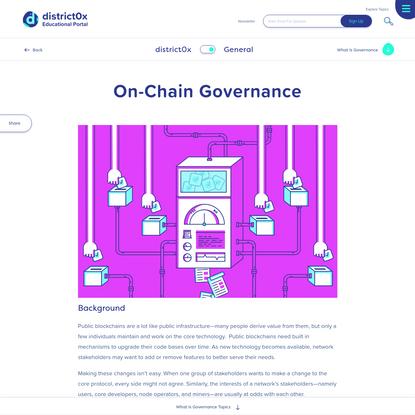 On-Chain Governance | Blockchain Governance | Education Portal