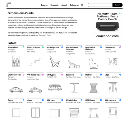 Dimensions.Guide | Database of Dimensioned Drawings
