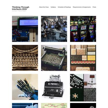 Thinking Through Interfaces 2019 – Zed Adams + Shannon Mattern
