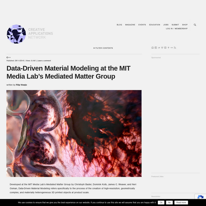 Data-Driven Material Modeling at the MIT @medialab Mediated Matter Group / @Stratasys