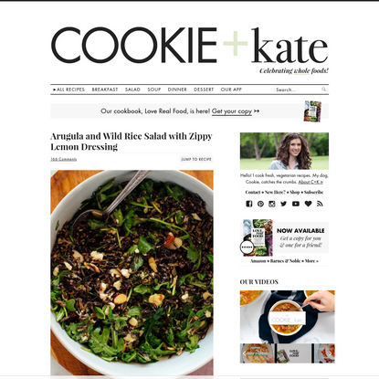 Arugula, Dried Cherry and Wild Rice Salad - Cookie and Kate