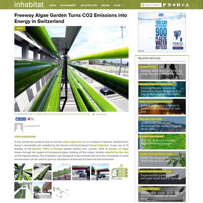 Freeway Algae Garden Turns CO2 Emissions into Energy in Switzerland