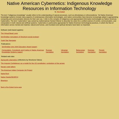 Native American Cybernetics