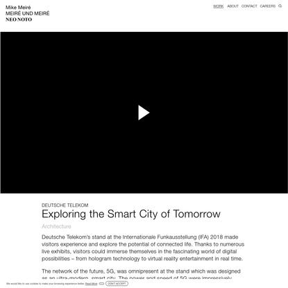 Exploring the Smart City of Tomorrow