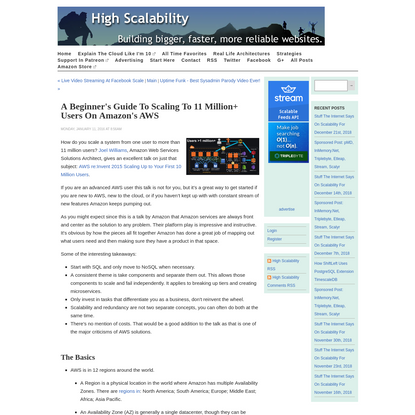 A Beginner's Guide to Scaling to 11 Million+ Users on Amazon's AWS - High Scalability -