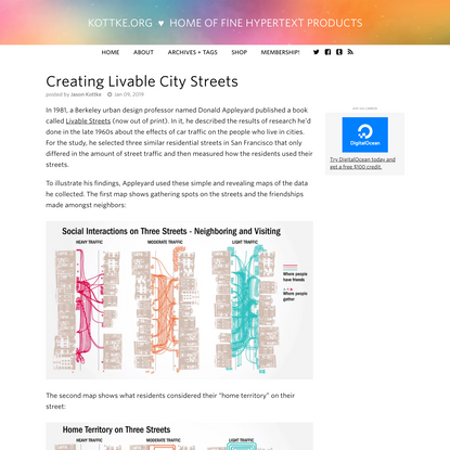 Creating Livable City Streets