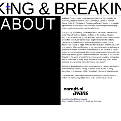 About | Making & Breaking