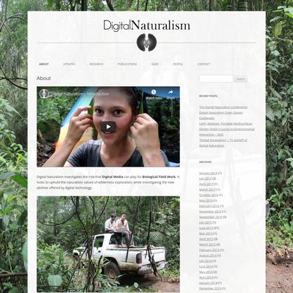 Digital Naturalism
