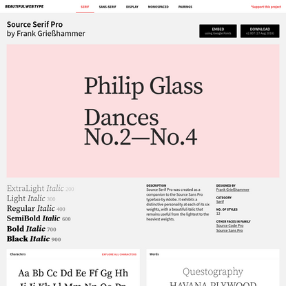 Complete Guide to Source Serif Pro