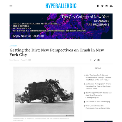 Getting the Dirt: New Perspectives on Trash in New York City