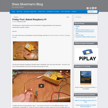 Friday Post: Baked Raspberry Pi