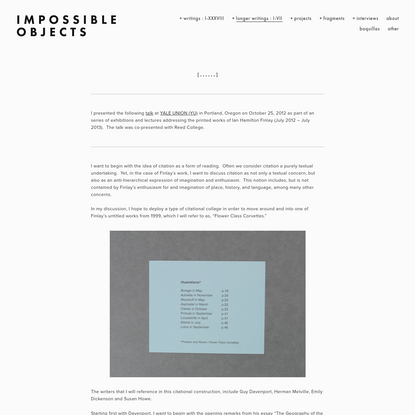 [ , , , , , , ] - Impossible objects