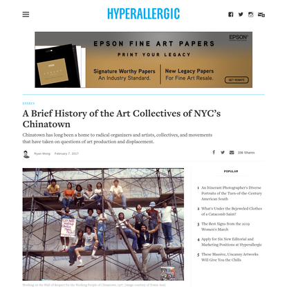 A Brief History of the Art Collectives of NYC's Chinatown