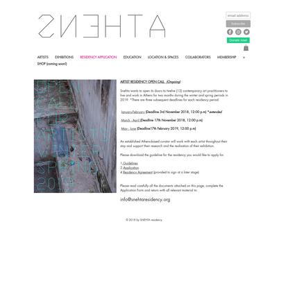 Residency application   Κεντρικός Τομέας Αθηνών   Snehta Residency