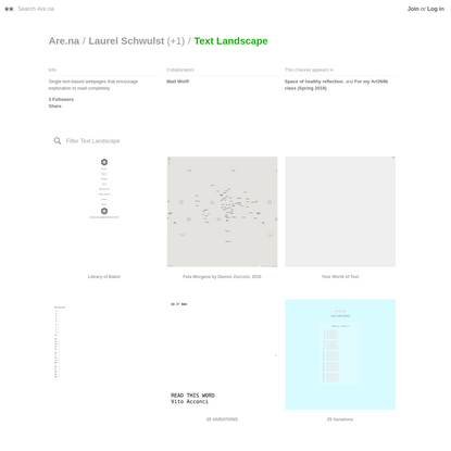 Are.na / Text Landscape