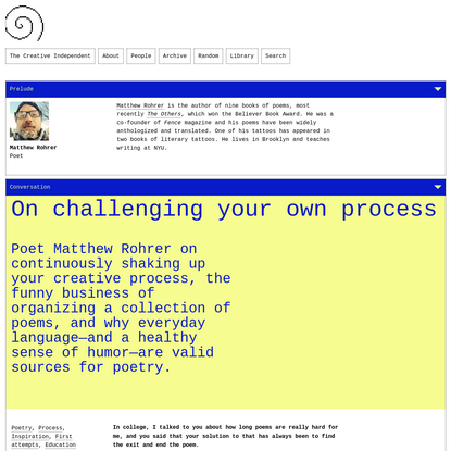 On challenging your own process