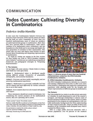 Todos Cuentan: Cultivating Diversity in Combinatorics — Federico Ardila