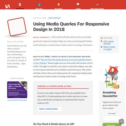 Using Media Queries For Responsive Design In 2018