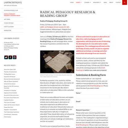 Radical Pedagogy Research & Reading Group