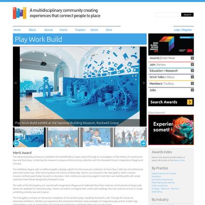 Play Work Build | SEGD