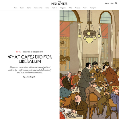 What Cafés Did for Liberalism