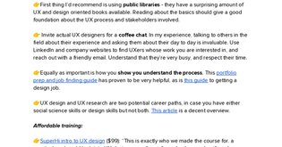 Getting started with UX Design
