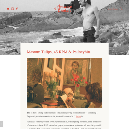Maston: Tulips, 45 RPM & Psilocybin : Aquarium Drunkard