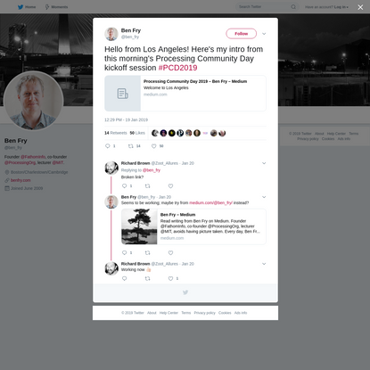 Ben Fry on Twitter