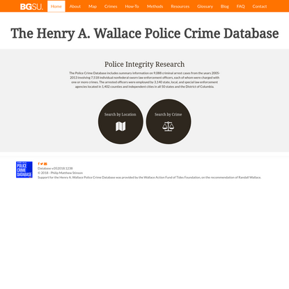 The Henry A. Wallace Police Crime Database