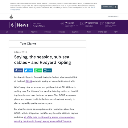 Spying, the seaside, sub-sea cables - and Rudyard Kipling