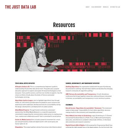 Resources - The JUST DATA Lab