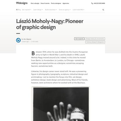 László Moholy-Nagy: Pioneer of graphic design - 99designs