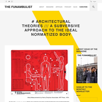 # ARCHITECTURAL THEORIES /// A Subversive Approach to the Ideal Normatized Body - THE FUNAMBULIST MAGAZINE