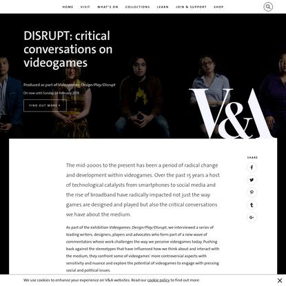 V&A · DISRUPT: critical conversations on videogames