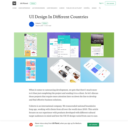 UI Design In Different Countries - UX Planet