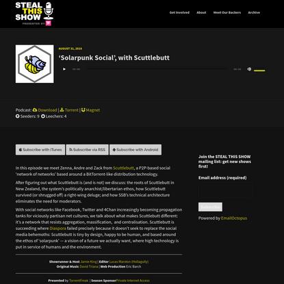 'Solarpunk Social', with Scuttlebutt