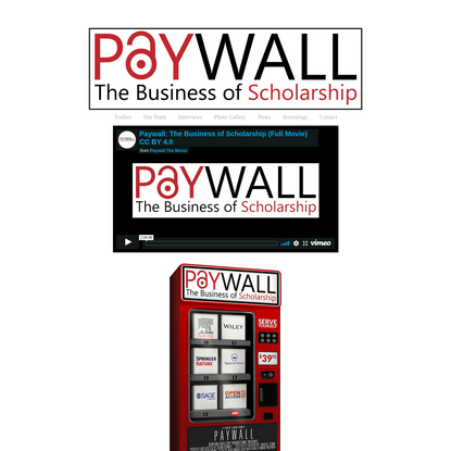 Paywall: The Business of Scholarship - Paywall