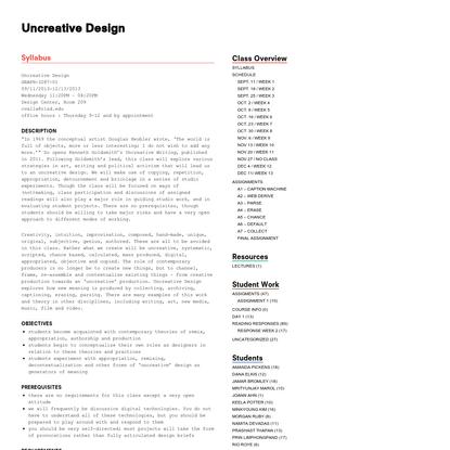 Uncreative Design