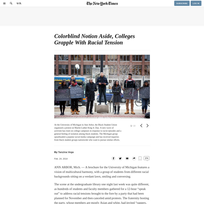 Colorblind Notion Aside, Colleges Grapple With Racial Tension