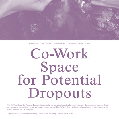 Co-Work Space for Potential Dropouts -