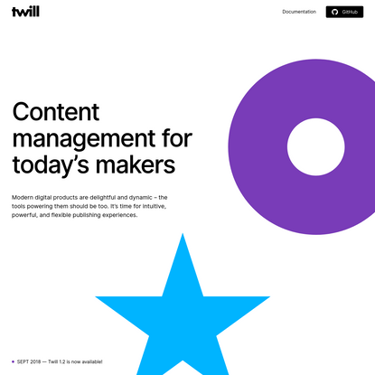 Twill - An open source CMS toolkit for Laravel